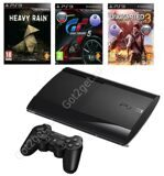 Игровая приставка PlayStation 3 Super Slim 500Gb + Heavy Rain + Gran Turismo 5 + Uncharted 3