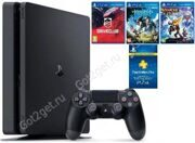 Игровая приставка PlayStation 4 Slim 500Gb Черная CUH-2008 РосТест + Driveclub + Horizon Zero Dawn + Ratchet & Clank + PSN 3 месяца