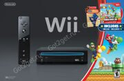 Игровая приставка Nintendo Wii Family Edition Черная + New Super Mario Bros.